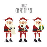 Figures set santa claus isolated icon design. Illustration  graphic Stock Photography