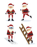 Figures set santa claus isolated icon design. Illustration  graphic Royalty Free Stock Image