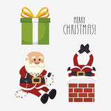 Figures set santa claus isolated icon design. Illustration  graphic Stock Photo