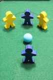 Figures on Snooker Table Stock Photo