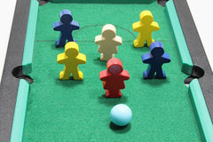 Figures on Snooker Table Stock Images