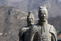 Figures of Soldier and Horses Clay. In China Royalty Free Stock Photo