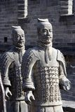 Figures of Soldier and Horses Clay. In China Stock Photography
