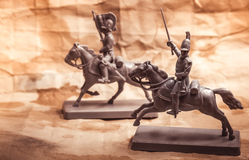Figures of soldiers, Russian dragoon Royalty Free Stock Image