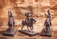 Figures of soldiers, Russian dragoon Stock Photos