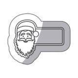 Figures sticker poster santa claus icon. Illustraction Royalty Free Stock Photo