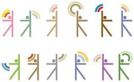 figures stylized folk Fotografering för Bildbyråer