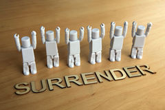 Figures surrendering Royalty Free Stock Photos