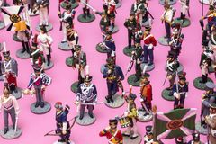 Figures of tin soldiers during the Napoleonic wars. Of 1812 Royalty Free Stock Photos