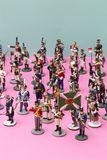 Figures of tin soldiers during the Napoleonic wars. Of 1812 Royalty Free Stock Image