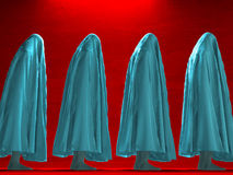 Figures under cloth. Figures hunched over under cloth Royalty Free Stock Photography