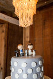Figures on wedding cake Royalty Free Stock Photography