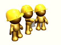 figures working together. On project site as solid teamwork Royalty Free Stock Images