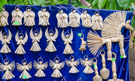 Figures woven manually angels mascots defenders against evil forces Stock Image