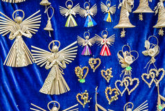 Figures woven manually angels mascots defenders against evil forces Royalty Free Stock Image