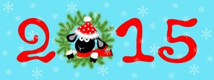 Figures_wreath_sheep 库存图片