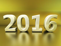 Figures 2016 on an yellow background Royalty Free Stock Image