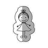 figurez la fille heureuse avec l'arc dans l'icône principale Photos libres de droits