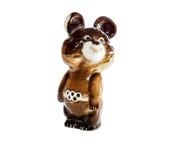 Figurilla de las Olimpiadas olímpicas el an o 80 del oso en Moscú imágenes de archivo libres de regalías