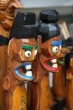 Figurilla de madera coreana Imagen de archivo libre de regalías