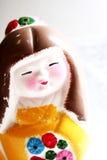 Figurilla pintada del geisha Fotos de archivo