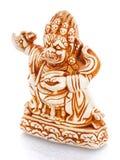 Figurina cinese della cultura su un bacgroung bianco Fotografia Stock Libera da Diritti