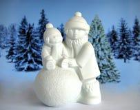 Figurina della porcellana di Natale Fotografia Stock