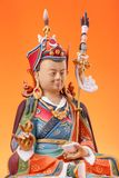 Figurina di Guru Rinpoche con dorje Immagini Stock Libere da Diritti