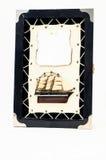 Figurina di legno della nave Fotografie Stock