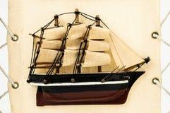 Figurina di legno della nave Fotografia Stock Libera da Diritti