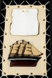 Figurina di legno della nave Fotografie Stock Libere da Diritti