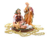Figurina di Natale di Gesù. Fotografia Stock