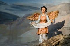 Figurina di natività di angelo Fotografia Stock