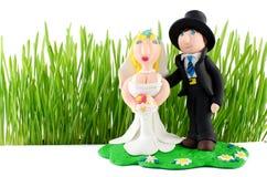 Figurina di nozze su bianco Immagine Stock