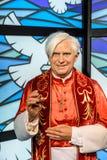 Figurina di Papa Benedetto XVI a signora Tussauds Wax Museum Fotografia Stock Libera da Diritti