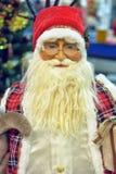 Figurina di Santa in vetri fotografia stock