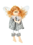 Figurine ангела рождества на белой предпосылке Стоковые Фото