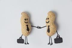 Figurine 2 бизнесменов тряся руки Стоковое Изображение