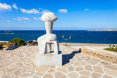 Figurine идола в Parikia Стоковое Фото