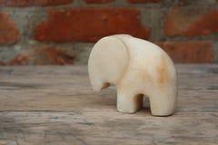 Figurine мраморного слона Стоковое Изображение