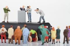 figurine политика говоря к людям Стоковое Изображение