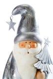 Figurine Санта Клауса на белой предпосылке Стоковые Изображения