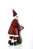 Figurine Санта Клауса с мешком Стоковое Фото