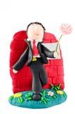 Figurine свадьбы человека на белизне Стоковые Изображения RF