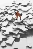 figurine соединяет работника головоломки Стоковое Изображение RF