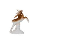 Figurine фарфора изолированных оленей Стоковое Изображение RF