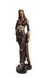 Figurine. The figurine of a model in the evening dress Royalty Free Stock Images