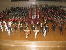 figurine-army-marching Royalty Free Stock Photography