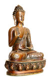 Figurine of blessing Buddha. Isolated over the white background Stock Images