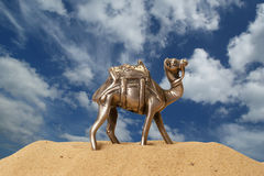 Figurine of a camel made of metal Royalty Free Stock Images